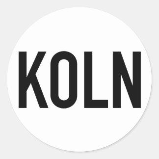 Preto da etiqueta | de KOLN no branco Adesivos Em Formato Redondos