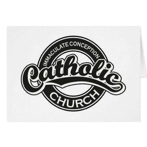 Preto da igreja Católica da concepção imaculada Cartões