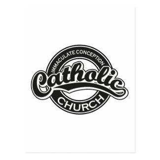 Preto da igreja Católica da concepção imaculada Cartoes Postais