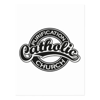 Preto da igreja Católica da purificação Cartoes Postais