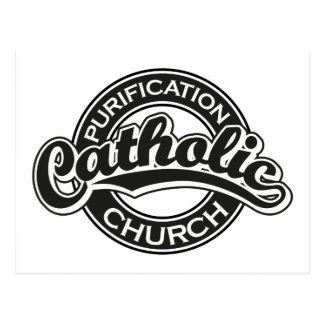 Preto da igreja Católica da purificação Cartão Postal
