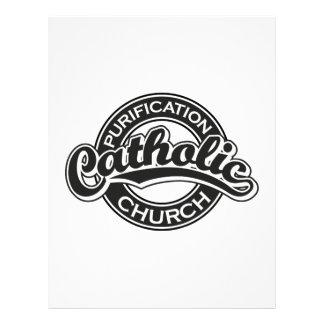 Preto da igreja Católica da purificação Papel De Carta Personalizados