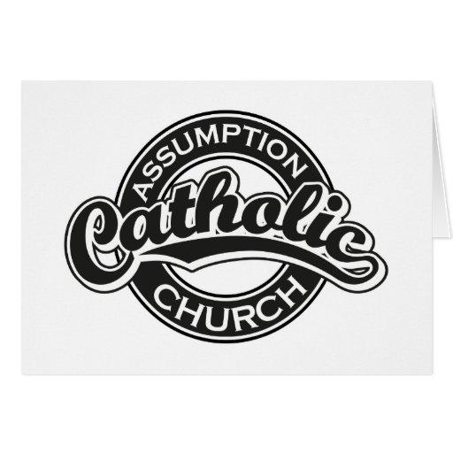 Preto da igreja Católica da suposição Cartoes