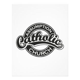 Preto da igreja Católica da suposição Papéis De Carta Personalizados