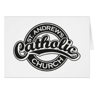Preto da igreja Católica de St Andrew Cartões