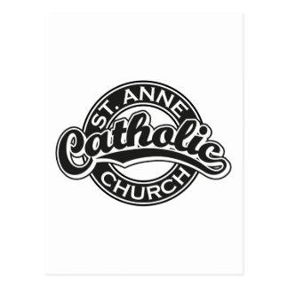 Preto da igreja Católica de ST ANNE Cartão Postal