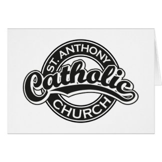 Preto da igreja Católica de St Anthony Cartoes