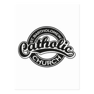 Preto da igreja Católica de St Bartholomew Cartão Postal