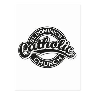 Preto da igreja Católica de St Dominic Cartão Postal