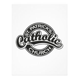 Preto da igreja Católica de St Patrick Papel De Carta Personalizados