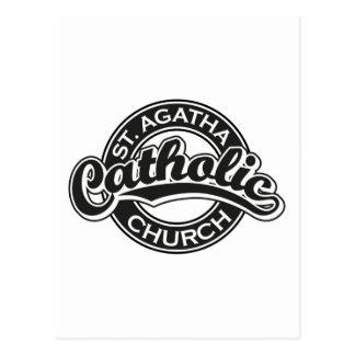 Preto da igreja Católica do St Agatha Cartão Postal