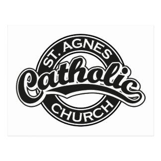 Preto da igreja Católica do St Agnes Cartões Postais