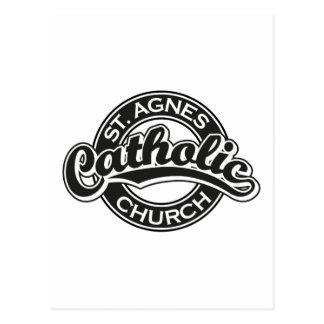 Preto da igreja Católica do St. Agnes Cartão Postal