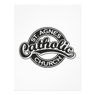 Preto da igreja Católica do St Agnes Modelo De Papel De Carta
