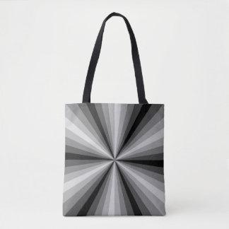 Preto da ilusão óptica toda sobre - imprima o saco bolsa tote