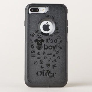 Preto da ilustração é UM MENINO! Capa iPhone 7 Plus Commuter OtterBox