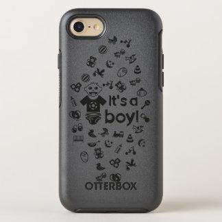 Preto da ilustração é UM MENINO! Capa Para iPhone 7 OtterBox Symmetry
