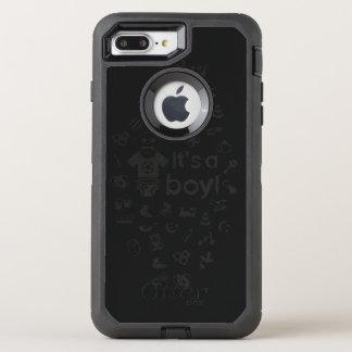 Preto da ilustração é UM MENINO! Capa Para iPhone 7 Plus OtterBox Defender