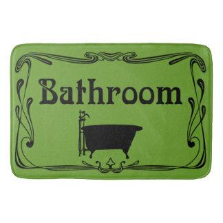 Preto da verde azeitona da cuba do vintage do tapete de banheiro