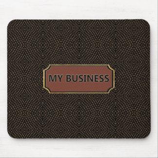 Preto de Brown do réptil meu negócio Mousepad