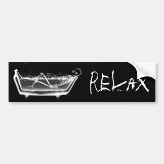 Preto de esqueleto & branco do raio X da banheira Adesivos