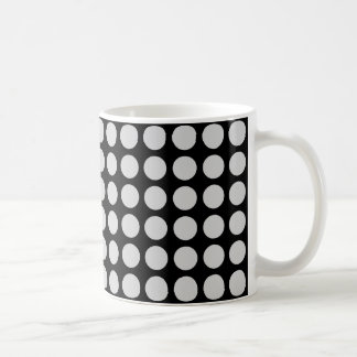 Preto de prata das bolinhas caneca de café