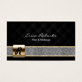 Preto de prata do luxo da correia dos Sequins do Cartão De Visitas