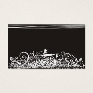 preto decorativo do cartão de visita dos