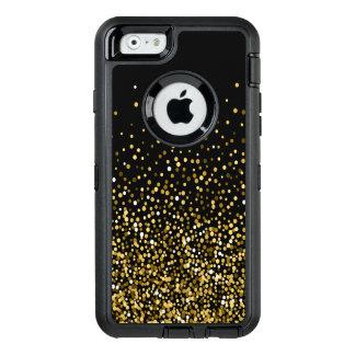 Preto & design dos confetes do ouro