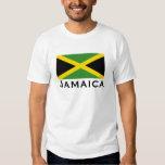 Preto do amarelo do verde da bandeira de Jamaica Camiseta