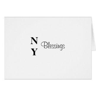 Preto do cartão das bênçãos de NY