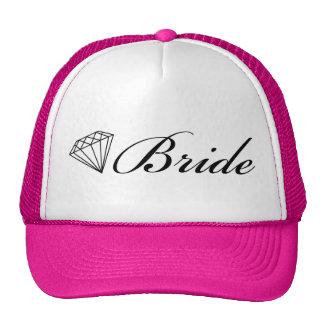Preto do chapéu do camionista da noiva do diamante boné