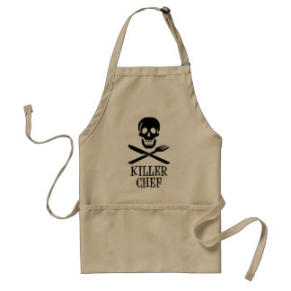 Preto do cozinheiro chefe do assassino avental