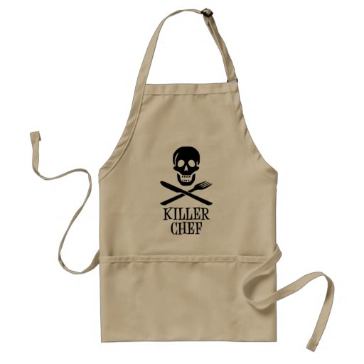 Preto do cozinheiro chefe do assassino aventais