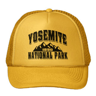 Preto do estilo antigo de Yosemite Boné
