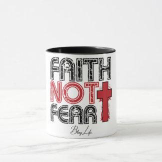 Preto do medo da fé não caneca combinado de 11