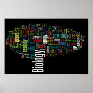 Preto do no. 5 de Wordle da biologia Poster