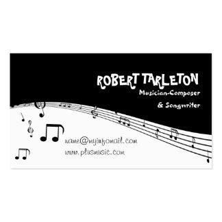 Preto do pentagram da música do músico, branco cartão de visita