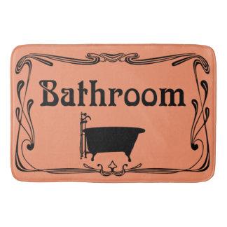 Preto do pêssego da cuba do vintage do banheiro do tapete de banheiro