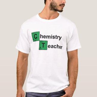 Preto do professor da química camiseta