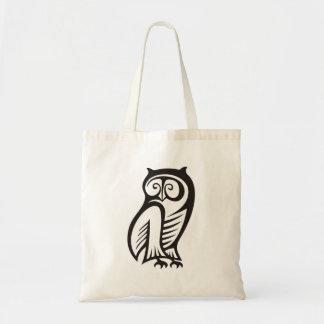 Preto do símbolo da coruja bolsa