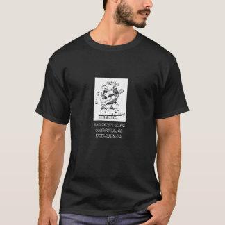 Preto do t-shirt com logotipo do rato KOWS de Camiseta