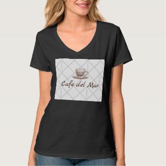 Preto do t-shirt da mulher camiseta
