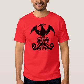 Preto do t-shirt do pássaro de Phoenix