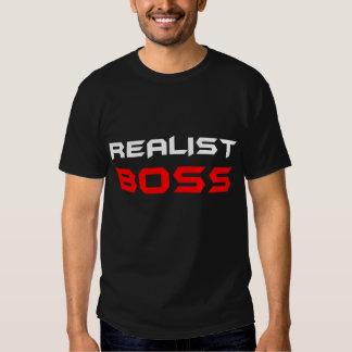 Preto do t-shirt do RealistBoss dos homens