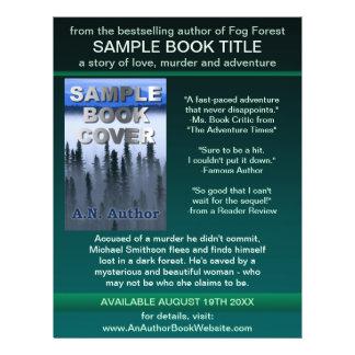 Preto do verde da capa do livro da promoção do panfleto personalizado