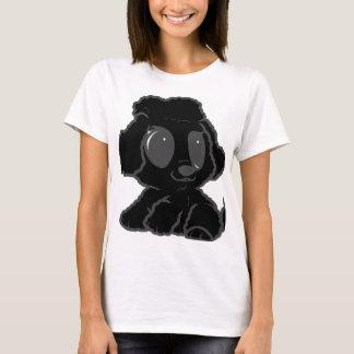preto dos desenhos animados da caniche camiseta