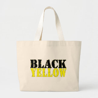 Preto e amarelo bolsa de lona