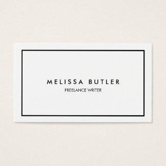 Preto e branco elegante profissional minimalista cartão de visitas