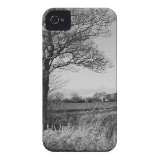 Preto e branco exterior capa para iPhone 4 Case-Mate
